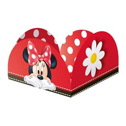 Forminha para Doces Red Minnie - Pct C/50 Unds